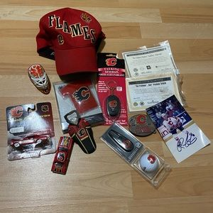 Selling Lot of Calgary Flames Collectible items